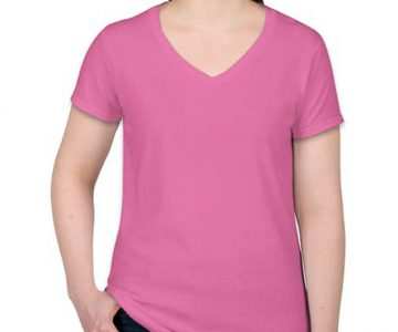 Camiseta baby look rosa pink lisa