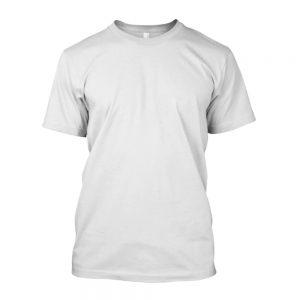 Camiseta de Algodão Masculina Branca Lisa