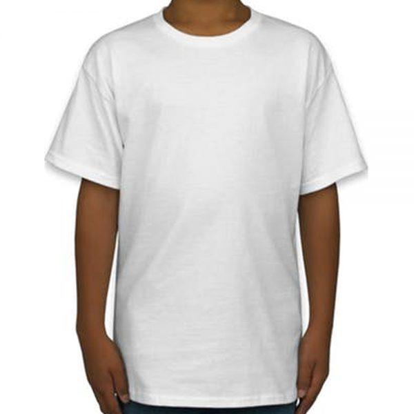 Camiseta de Algodão Masculina Branca