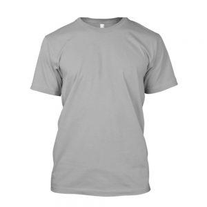 Camiseta de algodão masculina cinza mescla lisa