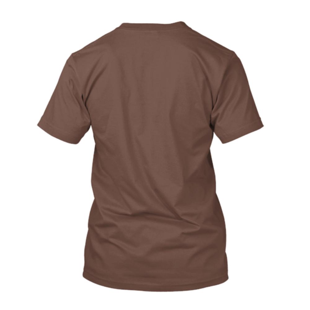 499ed34b2b16d Camiseta de Algodão Masculina Marrom Lisa - Super Estampas