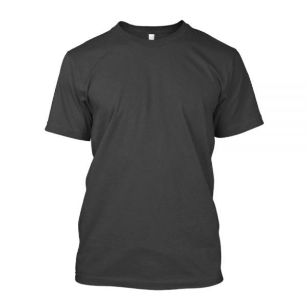 Camiseta de algodão masculina preta lisa
