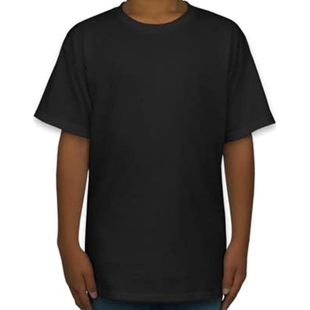 2a8eb1365c Camiseta de Algodão Masculina Preta Lisa - Super Estampas