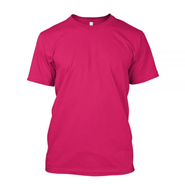 Camiseta de algodão masculina rosa pink lisa