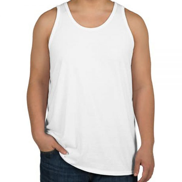 camiseta regata masculina branca lisa