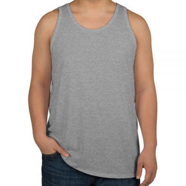 Camiseta regata masculina cinza mescla