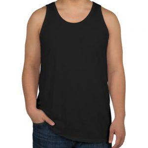camiseta regata masculina preta lisa