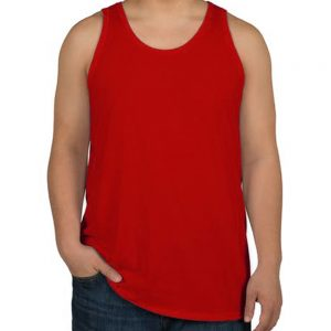 camiseta regata masculina vermelha lisa