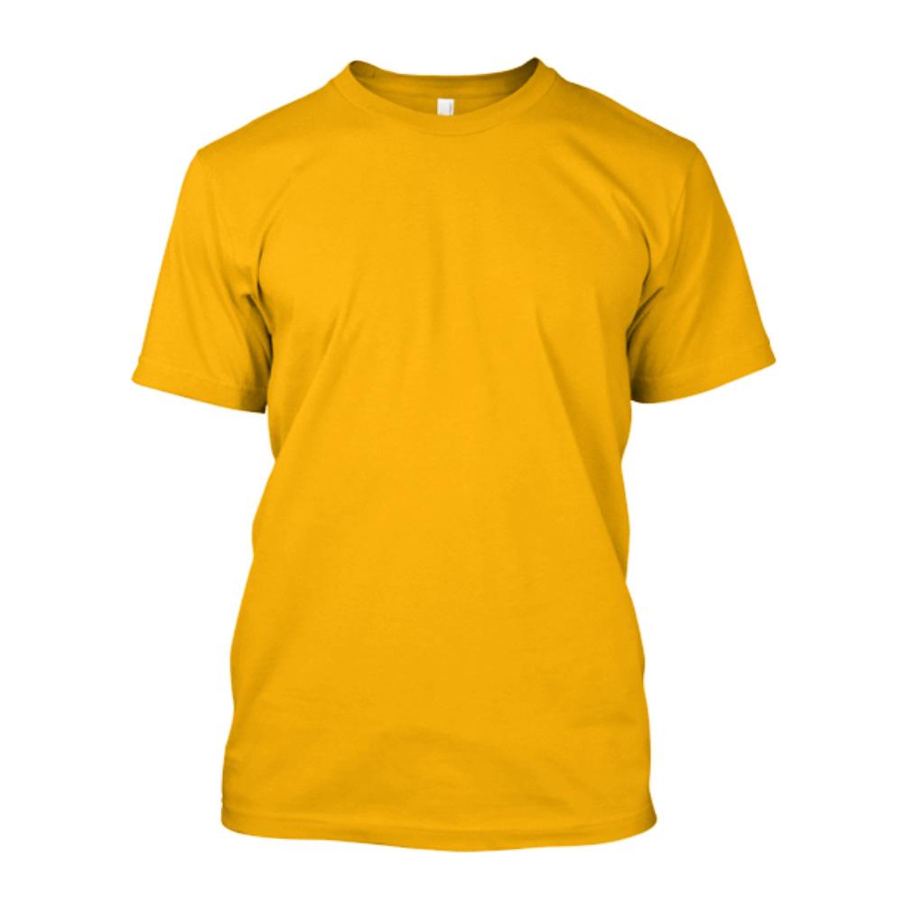 43b9a6b009 Camiseta de Algodão Masculina Amarela Lisa - Super Estampas
