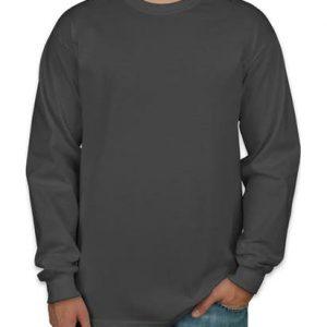Camiseta masculina manga longa grafite lisa