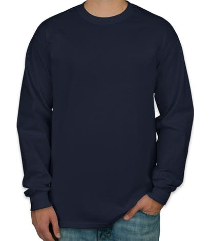 f55bed6ae8 Camiseta Manga Longa Masculina Azul Marinho Lisa - Super Estampas