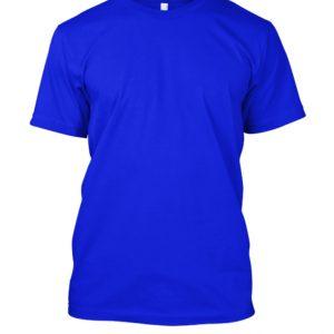 Camiseta de algodão masculina azul royal lisa