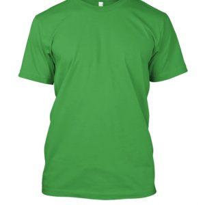 camiseta de algodão masculina verde limão lisa
