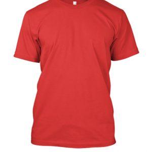 camiseta de algodão masculinas vermelha lisa